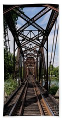 Railroad Bridge 6th Street Augusta Ga 1 Hand Towel
