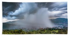 Rain Storm Over Medellin Bath Towel