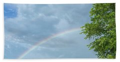 Rainbow And A Tree Bath Towel