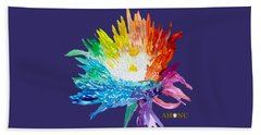 Rainbow Chrysanthemum Bath Towel