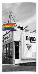 Rainbow Dog Byrons Hot Dogs Hand Towel