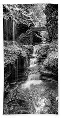 Rainbow Falls Gorge - Watkins Glen Hand Towel