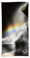 Rainbow In Broken Rock Falls Bath Towel