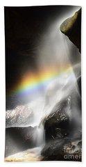 Rainbow In Broken Rock Falls Hand Towel