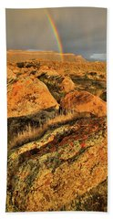 Rainbow Over The Book Cliffs Bath Towel