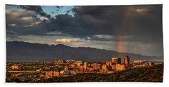 Rainbow Over Tucson Hand Towel