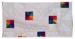 Rainbow Pinwheel Hand Towel