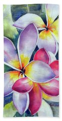 Rainbow Plumerias Bath Towel