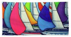 Rainbow Racing Regatta Bath Towel