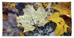 Bath Towel featuring the photograph Rainy Autumn Day by Mike Murdock