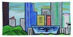 Raleigh Skyline No Perspective 16 X 20 Ratio Bath Towel