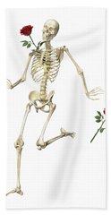 Rambling Rose Running Skeleton Hand Towel