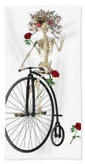 Rambling Rosy Penny Farthing Hand Towel