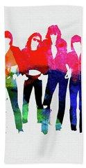 Ramones Watercolor Bath Towel