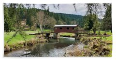 Ranch Hills Covered Bridge Hand Towel