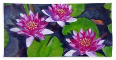 Rancho Water Lilies Bath Towel