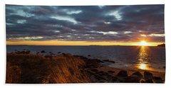 Randall Point Sunset At Barn Island - Stonington Ct Hand Towel