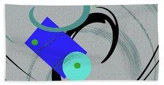 Randomness Variations 5, On Paper Montage Hand Towel