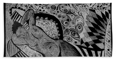 Reclining With Pillows Hand Towel