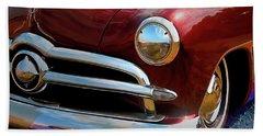 Red 1950 Ford Traditional Custom Bath Towel