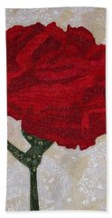 Red Carnation Hand Towel
