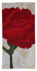Red Carnation Bath Towel