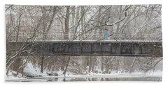 Red Cedar River Michigan State Winter  Bath Towel