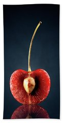 Red Cherry Still Life Hand Towel