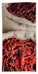 Red Chilli Hand Towel