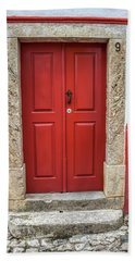 Red Door Nine Of Obidos Hand Towel