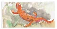 Red Eft Bath Towel