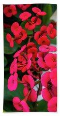 Red Flowers In Bloom Bath Towel
