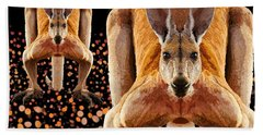 Red Kangaroos Hand Towel