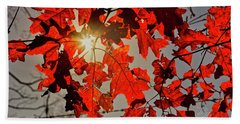 Red Leaves Hand Towel