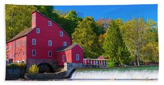 Red Mill Photograph Bath Towel