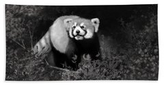 Hand Towel featuring the digital art Red Panda by Angela Murdock