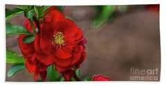 Red Quince Painterly Bath Towel