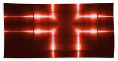 Red Reflecting Metallic Surface. Technological  Background.  Bath Towel
