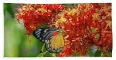 Red-spot Jezebel Butterfly Dthn0235 Hand Towel