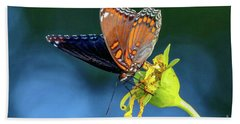 Red-spotted Purple Butterfly Bath Towel