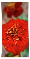 Red Summer Flowers Hand Towel