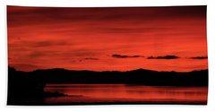 Red Sunset Bath Towel