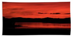 Red Sunset Bath Towel
