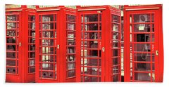 Red Telephone Box  Hand Towel