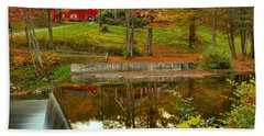Reflections At The Green River Crib Dam Hand Towel
