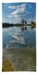 Reflections By The Lake Bath Towel