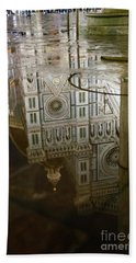 Reflections El Duomo The Florence Italy Cathedral Bath Towel