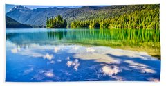 Reflections In Packwood Lake Hand Towel