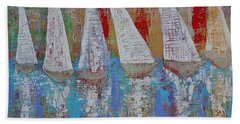 Regatta Original Painting Hand Towel