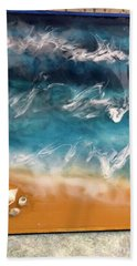 resin-Waves-2a Hand Towel